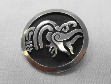 Taxco Sterling Snake Pin/Pendant, signed Cheo