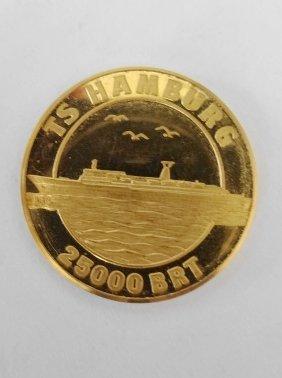 Gold Medal, German Atlantic Line TS Hamburg, 25,000 BRT