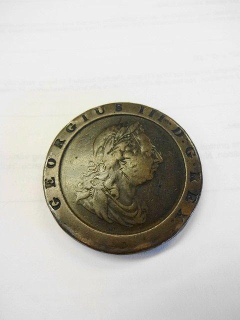 British Coin, 1797 George III, Britannia
