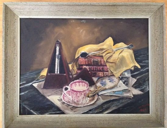 American Still Life Painting, Signed