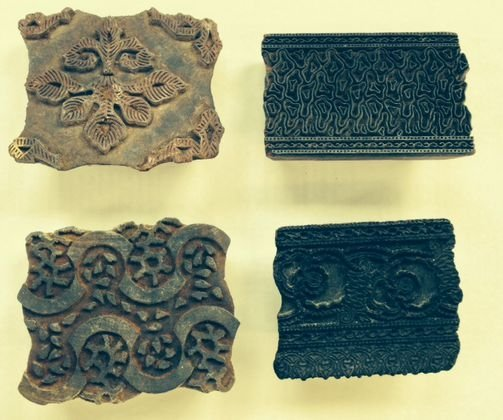 Southeast Asian carved ink blocks (4)
