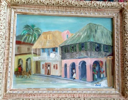 Southern Folk Art Painting, Signed