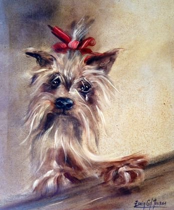 Sonia Gil Torres, Dog Painting, Signed