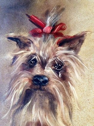 Sonia Gil Torres, Dog Painting, Signed - 2