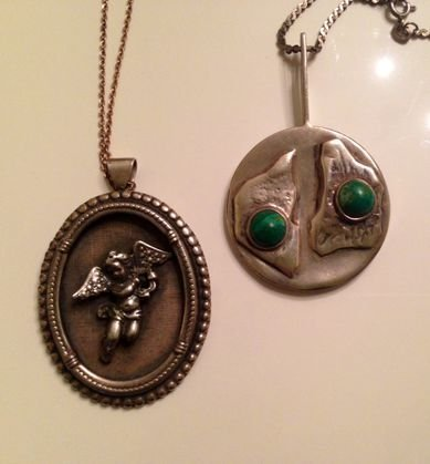 Mid-Century Sterling Handmade Necklaces (2)