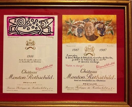 Original Chateau Mouton Rothschild Wine Labels (4) - 3