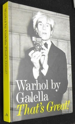 "Warhol by Ron Galella, ""Thats Great"", Book Signed"