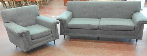 Mid Century Modern Sofa and Chair, c. 1960