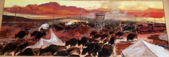 American Western Illustration, G. Johnson, MGM 1962