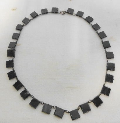 Mexican Silver & Bloodstone Necklace