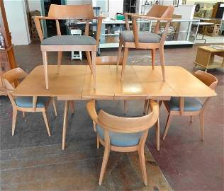 Heywood Wakefield Wishbone Table & 6 Chairs