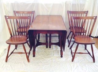 Sprague U0026 Carleton Rock Maple Table And Chairs