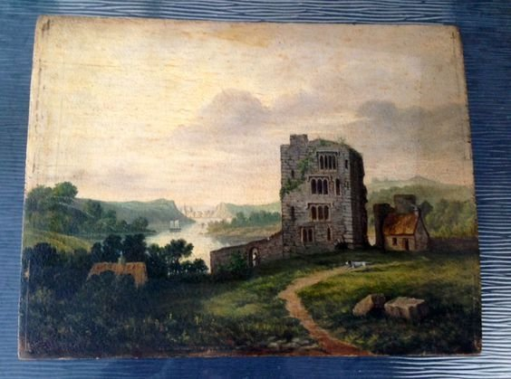 Hudson River School Oil on Panel, 19th Cent.