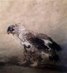 Kaiko Moti Aquatint Etching 'Falcon' Pencil Signed