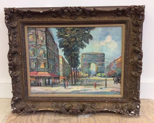 French Oil Painting, Paris, Signed A. Blanchard