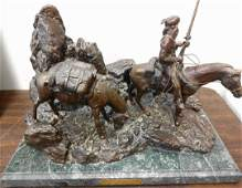 Bronze Western Sculpture, Free Trappers, Davies