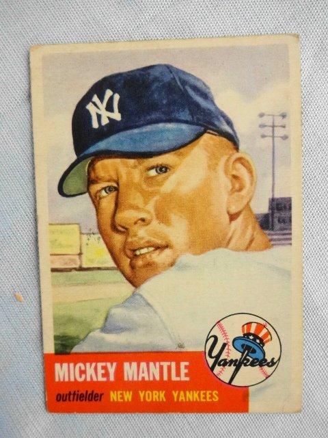 Mickey Mantle Baseball Card, 1953 Topps # 82