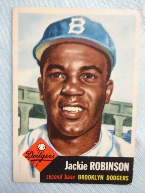 Jackie Robinson Baseball Card, 1953 Topps #1