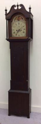 Connecticut Tall Case Clock, 18th C Butternut Case