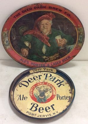 Deer Park Brewery, Port Jervis, NY Beer Trays, (2)