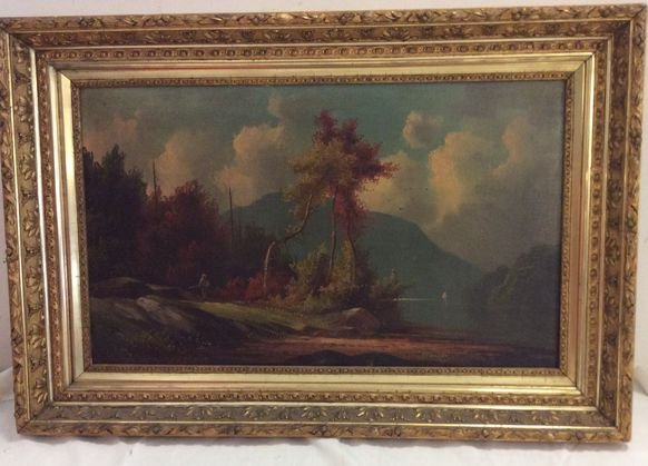 American Painting, Hudson Valley Landscape, 19th C