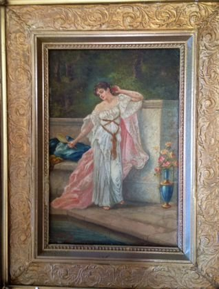 French painting, G.Roche 19th Century
