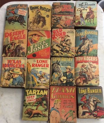 Collection Big Little Books, Western Themes, c.1940s