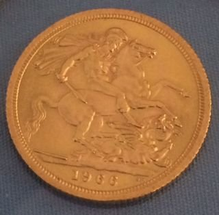 Great Britain 1966 Sovereign Gold Coin