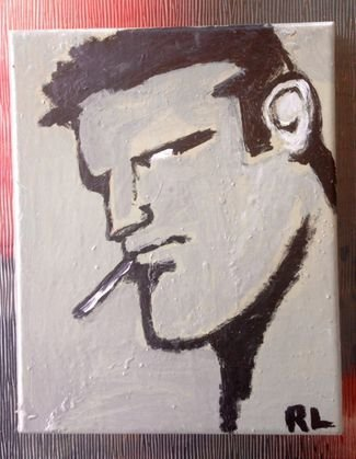 """Robert Laughlin, Painting, """"The Brute"""", Signed"""