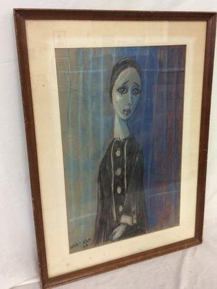Nadi Ken, French Harlequin Painting, 1957