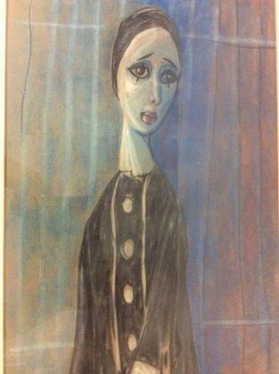 Nadi Ken, French Harlequin Painting, 1957 - 2