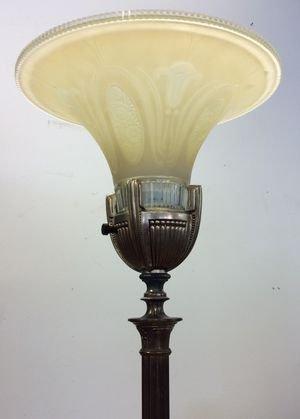 Art Deco Torchiere Floor Lamp - 2