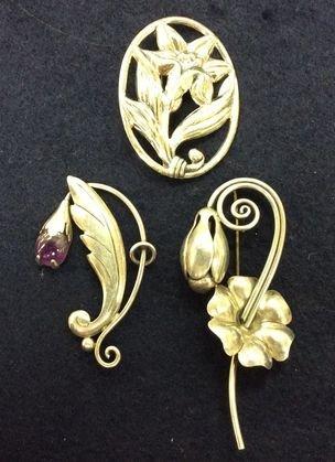 Vintage Sterling Pins, Jensen, Taxco, Danecraft
