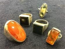 Vintage Sterling  Stones Rings