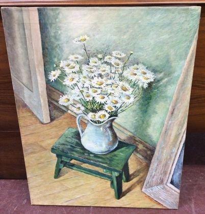 Russian Still Life Painting, Signed G. Manuilov