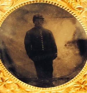 Civil War Union Soldier Tin Type, New Hampshire