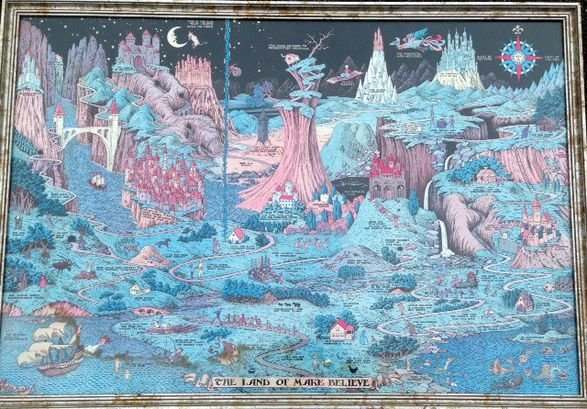 "Map, Jaro Hess, ""The Land of Make Believe"", 1930"