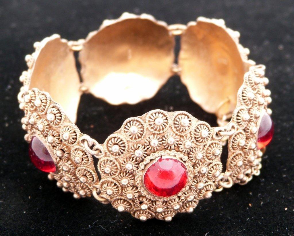 60: Indian Bracelet with Read Stones