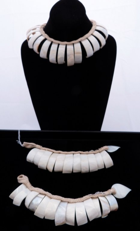 69: Sea Shell Necklace and Two Bracelets made in france