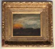 """188: Ralph Albert Blakelock (1847 - 1919), """"Sunset"""""""