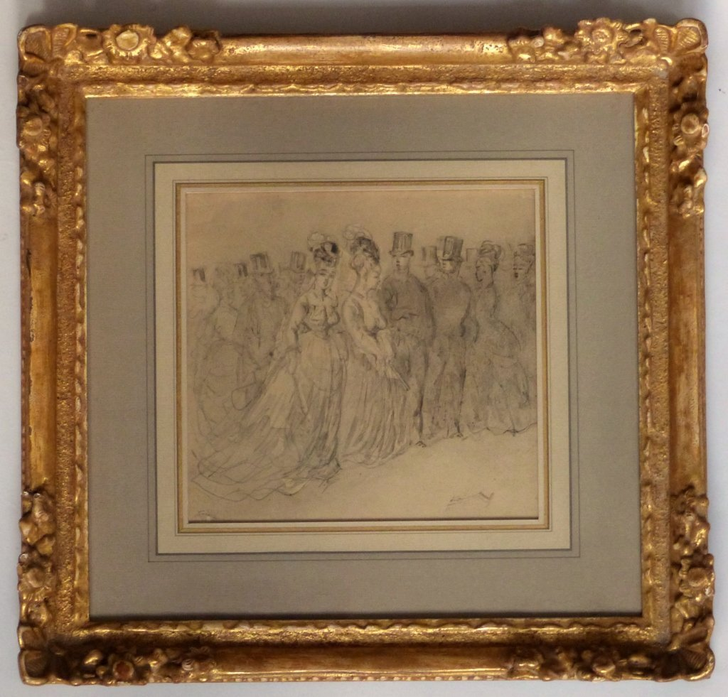 191: Old Master Drawing French Victorian Aristocracy