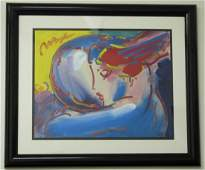 205A Peter Max Acrylic on Paper Abstract
