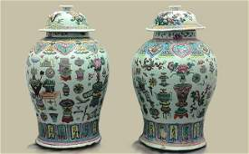 267: Chinese Porcelain Urns