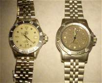 Two Steel Tag Heuer Watches