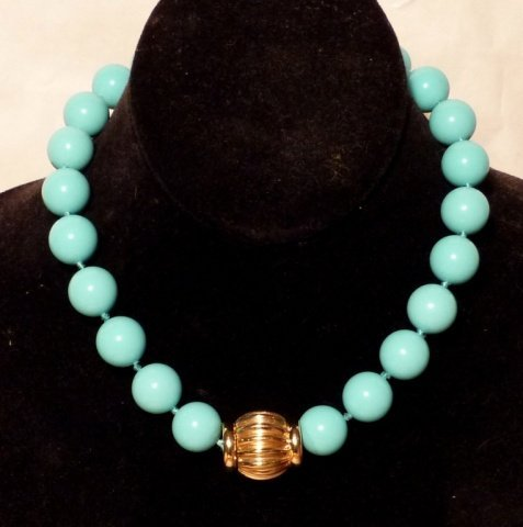 Persian 14k Gold and Turquoise Necklace