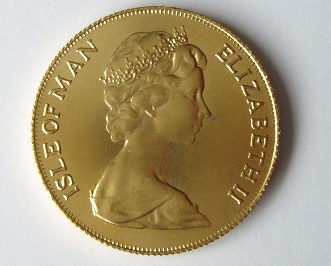 12: MANX 1975 GOLD COIN SOVEREIGN