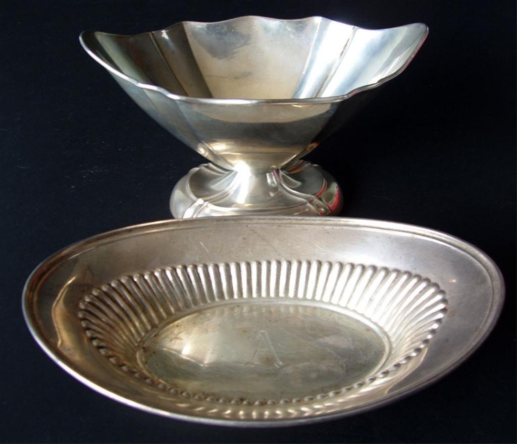 21: TWO ANTIQUE STERLING SILVER BOWLS