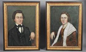 PAIR OF PORTRAITS OF HUSBAND AND WIFE
