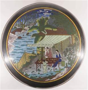Large Chinese Cloisonne Food Box