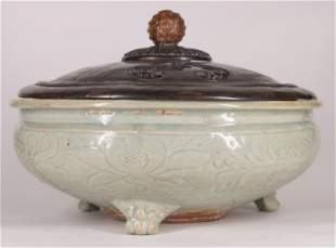 Longquan Celadon Pottery Tripod Censer